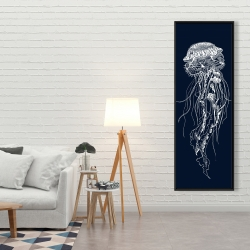 Framed 20 x 60 - Detailed jellyfish illustration
