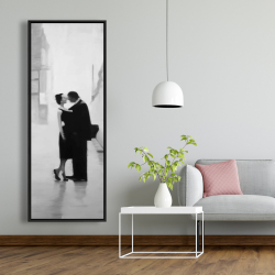 Framed 20 x 60 - Couple in the street