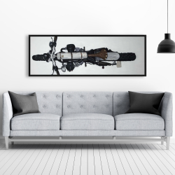 Framed 20 x 60 - Overhead view of a motorcycle