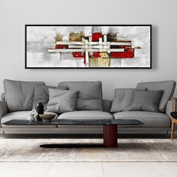 Framed 20 x 60 - Abstract intertwining shapes