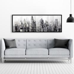 Framed 20 x 60 - Gray city with splash