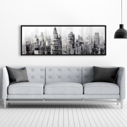 Framed 20 x 60 - Gray city