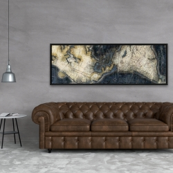 Framed 20 x 60 - Old world map