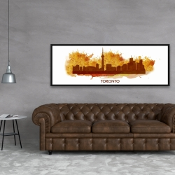 Framed 20 x 60 - Paint splash silhouette of toronto