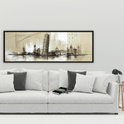 Framed 20 x 60 - Pise tower sketch