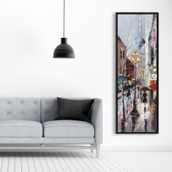 Framed 20 x 60 - Rainy day in new york