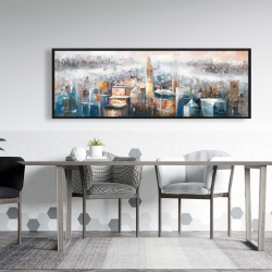 Framed 20 x 60 - Cityscape of new york with the chrysler building