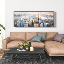 Framed 20 x 60 - Abstract new york city