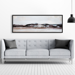 Framed 20 x 60 - Watercolor mountains