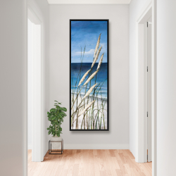 Framed 20 x 60 - Wild herbs in the wind on at the beach