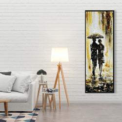 Framed 20 x 60 - Couple under the rain