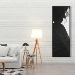 Framed 20 x 60 - Chic woman with jewels