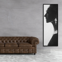 Framed 20 x 60 - Chic woman