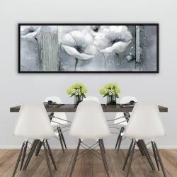Framed 20 x 60 - Grayscale flowers