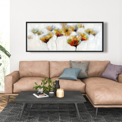 Framed 20 x 60 - Color spotted flowers
