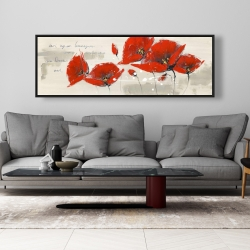 Framed 20 x 60 - Red flowers with an handwritten typo