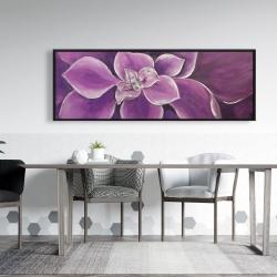 Framed 20 x 60 - Purple flower closeup