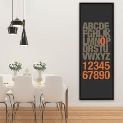 Framed 20 x 60 - Alphabet and number