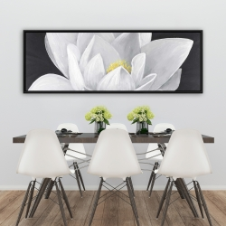 Framed 20 x 60 - Overhead view of a lotus flower