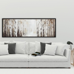 Framed 20 x 60 - Winter forest