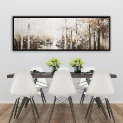 Framed 20 x 60 - Abstract white forest