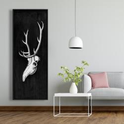 Framed 20 x 60 - Deer skull in the dark