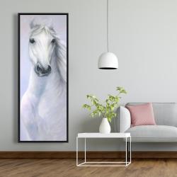Framed 20 x 60 - Powerful white horse
