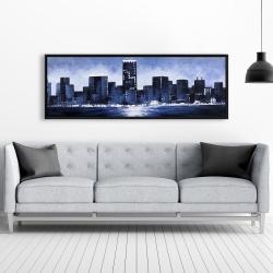 Framed 20 x 60 - Marine blue city