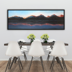 Framed 20 x 60 - Mountains landscape