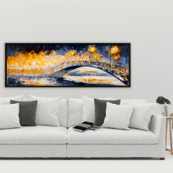 Framed 20 x 60 - Bridge in the moonlight