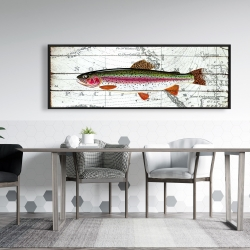 Framed 20 x 60 - Trout on a world map