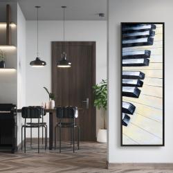 Framed 20 x 60 - Piano closeup