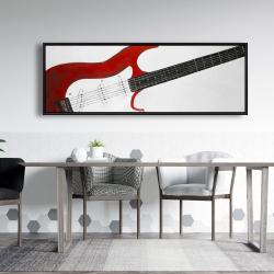 Framed 20 x 60 - Red rock guitar