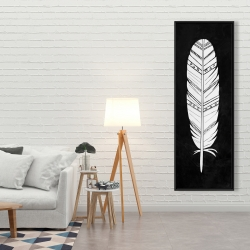 Framed 20 x 60 - Native american feather