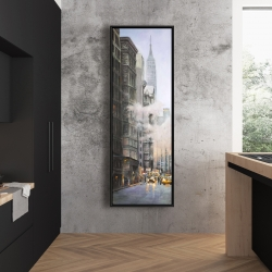 Framed 20 x 60 - Morning in the streets of new-york city