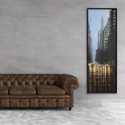 Framed 20 x 60 - Evening in the streets of new-york city