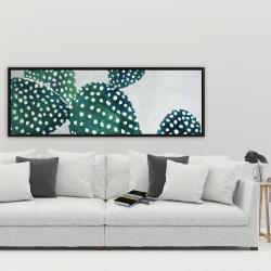 Framed 20 x 60 - Opuntia cactus 1