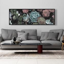 Framed 20 x 60 - Succulent set