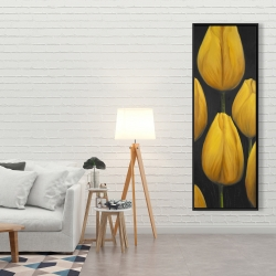 Framed 20 x 60 - Six daffodils flowers