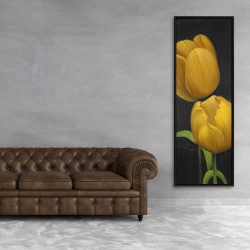 Framed 20 x 60 - Two daffodils flowers