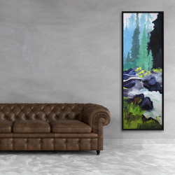 Framed 20 x 60 - Beautiful waterfall