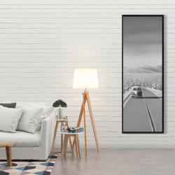 Framed 20 x 60 - Car on the road