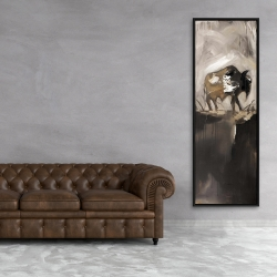 Framed 20 x 60 - Abstract buffalo