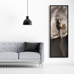 Framed 20 x 60 - Abstract proud aeries