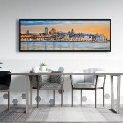 Framed 20 x 60 - Skyline of quebec city