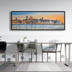 Framed 20 x 60 - Skyline of quebec city