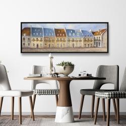 Framed 20 x 60 - Old quebec city