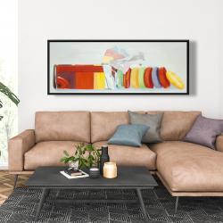 Framed 20 x 60 - Colorful pastilles