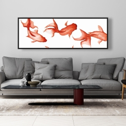 Framed 20 x 60 - Small red fishes