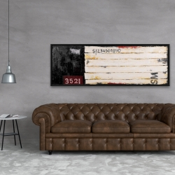 Framed 20 x 60 - Wood looking art with numbers